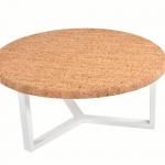 Table Basse Ronde Pure Metal Blanc-1b