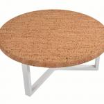 Table Basse Ronde Pure Metal Blanc-2b