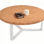 Table Basse Ronde Pure Metal Blanc-3b