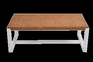 Table basse rectangulaire-Ambre-Metal Blanc-1