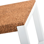 Table basse rectangulaire-Ambre-Metal Blanc-3