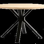 Bambou table a manger ronde-4