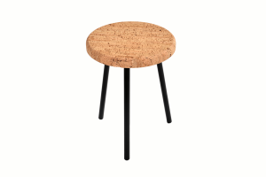 Table d'appoint Ronde-Pure-Metal Noir-1