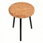Table d'appoint Ronde-Pure-Metal Noir-2