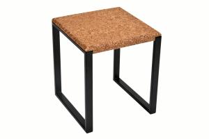 Table d'appoint carree-Ambre Metal Noir-1
