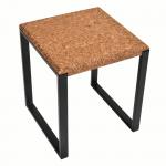 Table d'appoint carree-Ambre Metal Noir-2