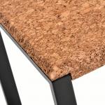 Table d'appoint carree-Ambre Metal Noir-3