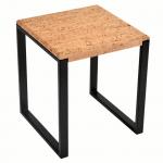 Table d'appoint carree-Pure Metal Noir-1