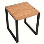 Table d'appoint carree-Pure Metal Noir-2