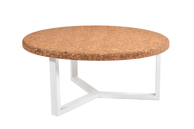 Ronde salontafel met modern design uit metaal kurk kopen online