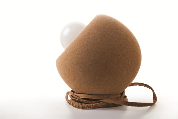 Unieke Bolvormige tafellamp - Natuurlijke Kurk 1